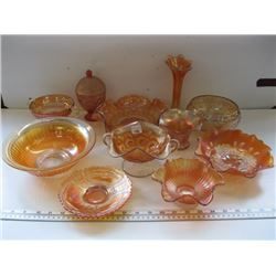 A LOT OF CARNIVAL GLASS
