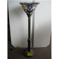TALL DECORATIVE TIFFANY LIKE REPRODUCTION LAMP