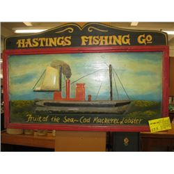 HASTING FISHING CO. SIGN