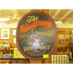 COLONIAL CARRIAGE SALES CO. SIGN