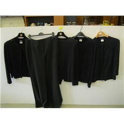 5 PCS OF CHANEL CLOTHING (4 TOPS, 1 PR OF PANTS)