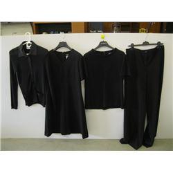 4 PCS OF CHANEL CLOTHING ( 3 TOPS, 1 PR OF PANTS)