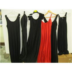 6 DRESSES (4 TAGGED LARGE)