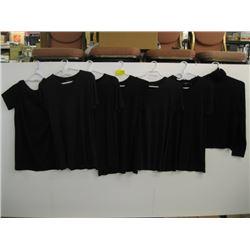 6 - THEORY BLACK T-SHIRTS (L), THEORY WOOL SHIRT (L)