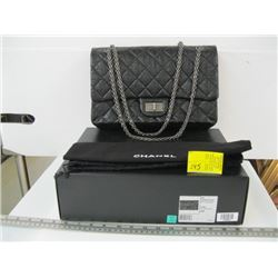 AUTHENTIC CHANEL LOOKS UNUSED DOUBLE FLAP BLACK PURSE WITH ORIGINAL BOX & BAG V1N#13706879