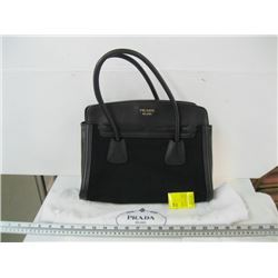 AUTHENTIC USED BLACK PRADA PURSE WITH CARD