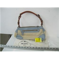 AUTHENTIC USED PRADA PURSE WITH CARD (GLUE STAIN)