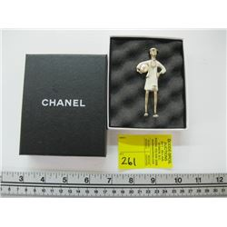 CHANEL FIGURINE WITH PEARL BROOCH