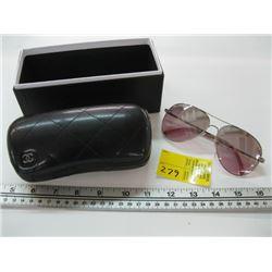 PR OF CHANEL AVIATOR SUNGLASSES 4189-T-Q WITH CASE & BOX