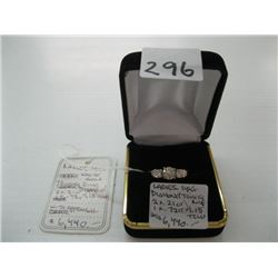 LADIES 14K DIAMOND TRINITY RING 1.15 TCW WITH LOCAL APPRAISAL $6,440.00 - sz 8 1/2 approx.