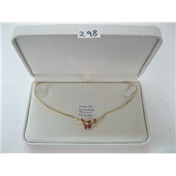 LADIES 14K DIAMOND/RUBY NECKLACE WITH LOCAL APPRAISAL $3,165.00