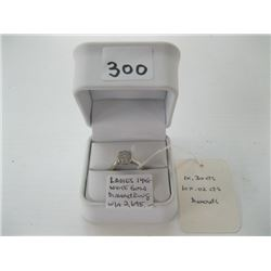 LADIES 14K WHITE GOLD DIAMOND RING WITH LOCAL APPRAISAL $2,695.00 - sz 6 1/4 approx.