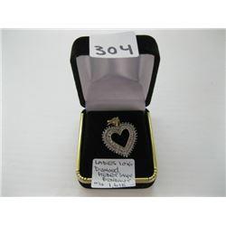 LADIES 10K DIAMOND HEART SHAPED PENDANT WITH LOCAL APPRAISAL $1,615.00