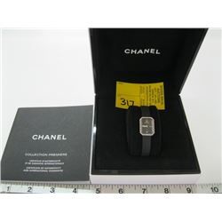 AUTHENTIC CHANEL LADIES WATCH WITH DIAMOND TRIM WITH ORIGINAL BOX