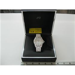 CHANEL J12 WATCH IN BOX (CRACKED OUTER BEZEL)