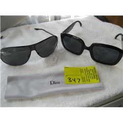 2 PR OF CHRISTIAN DIOR SUNGLASSES