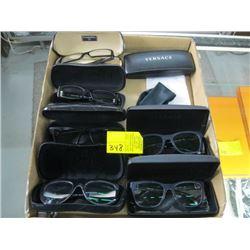 BOX OF ASSORTED VERSACE & CHANEL PRESCRIPTION GLASSES