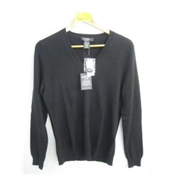 NWT LORD & TAYLOR BLACK CASHMERE SWEATER (M)
