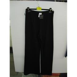 NWT DONNA KAREN PR OF BLACK PANTS (M)