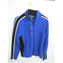 NWT RALPH LAUREN BLUE ZIPPERED SWEATER (L)