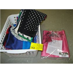 BOX OF ASSORTED SILK SCARVES