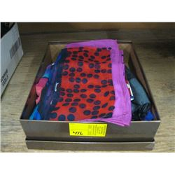 BOX OF SILK SCARVES