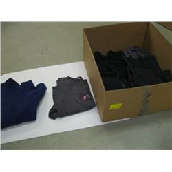 BOX OF ASSORTED PULLOVERS, PANTS ETC.
