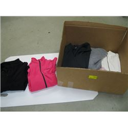 BOX OF ASSORTED PULLOVERS ETC.