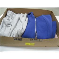 BOX OF ASSORTED PULLOVERS, SWEATERS ETC.