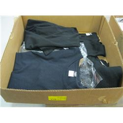 BOX WITH ASSORTED CHANEL UNIFORM SHIRTS, SWEATERS ETC.