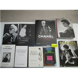 A LOT OF 9 CHANEL BOOKS