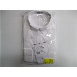 CHANEL UNIFORM WHITE BUTTON UP SHIRT IN BAG