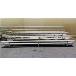 5 Tier Metal Bleachers Grandstand Seating 15'x8'x4' (some damage)