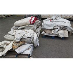 Qty 3 Pallets Misc Tarps & Tent Panels