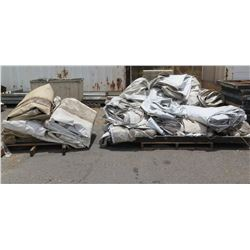 Qty 2 Pallets Misc Olympic Tent Flame Retardant Tarps & Panels