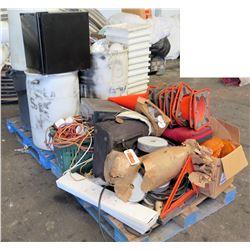 Pallet Traffic Cones, Emergency Reflectors, Plastic Bins, Sony Digital Control, etc