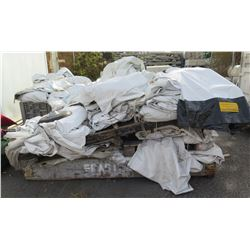 Multiple Olympic Tent Flame Retardant Tarps & Panels (some in bags)