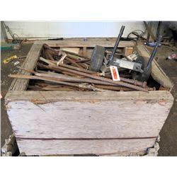 Wooden Bin Alto Danmark 5203K Dolly, Metal Tent Spikes, Rebar, etc