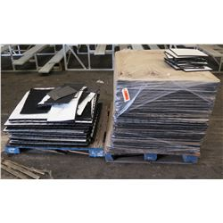 "Qty 2 Pallets Multiple Interlocking Portable Flooring Mats 12"" Square"
