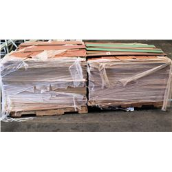 "Qty 2 Pallets Wood & Green Tongue in Groove Interlocking Flooring 50""x6"""