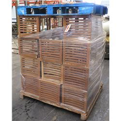Pallet Wooden Slatted High Back Chairs