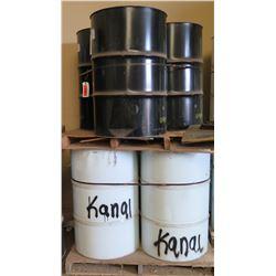 Qty 6  55 Gal Drums Rhino Linings Hybrid HD-55 & A231 Industrial Coatings