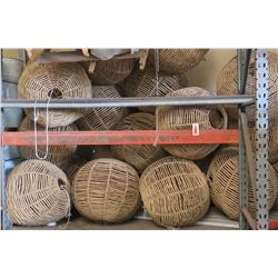 Multiple Large Round Pendant Straw Bamboo Hanging Lights