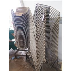 Approx. 70 Metal Mesh Net Stacking Chairs