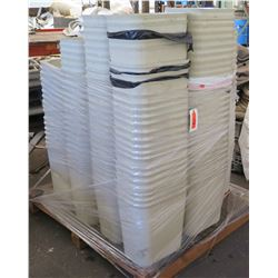 Pallet White Stacking Plastic Trash Cans & Misc Cable, Air Vents