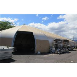 Sprung Structures Tent (Approx. 150' L, 50' W, 30' H) and Pallet Racking & Cantilever Racking