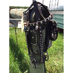 Pair of pony bridles,