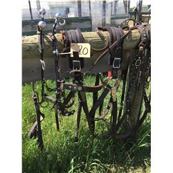 Set of light horse harness fits up to 1000 lb,