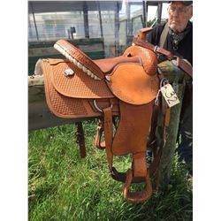 Billy Shaw Western saddle, 16 inch seat, 6 ½ inch wither space,