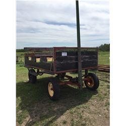 Old wagon, spring ride, 4 wheels,